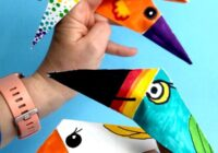 Easy Bird Finger Puppet Origami - Rote Ted Kunst