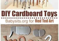 Easy Cardboard Animal Toys - Red Ted Art