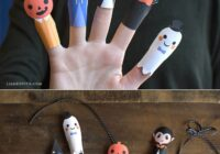 Halloween Paper Finger Puppets - Lia Griffith