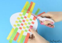 Easter Egg Paper Weaving - Easy Peasy and Fun